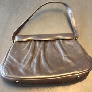 Vintage, brown leather handbag.